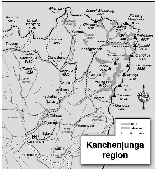 Kangchenjunga map